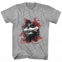 BRUCE LEE SILHOUETTE WOMENS  T-SHIRT MARTIAL ARTS MMA TRAINING TOP COOL KUNG-FU