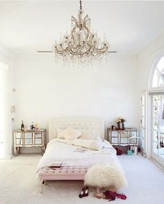 DREAM ROOM WITH A PRINCESS CANOPY AND FULL LENGTH FLOOR MIRROR WITH A BEAUTIFUL VINTAGE FRAME PLEASE