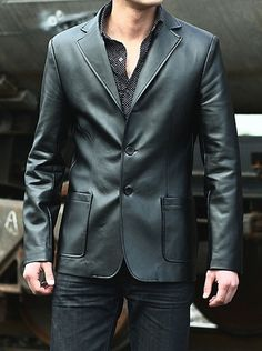68 Best Mens Leather Blazer images