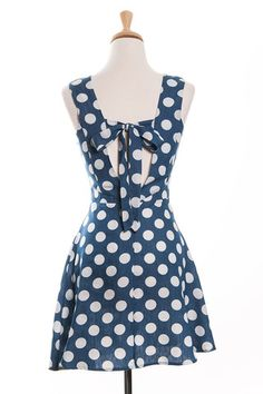 Delightful Dots Chambray Sundress | Tailor and Stylist