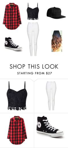 """song cry"" by whoiskkathyy on Polyvore featuring Lipsy, Topshop and Converse"