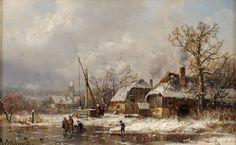 The Athenaeum - Village in Winter (Adolf Stademann - )