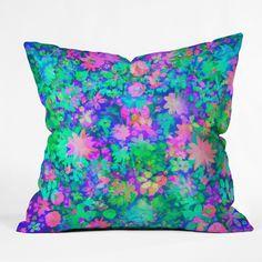 $45 Amy Sia Fluro Floral Throw Pillow