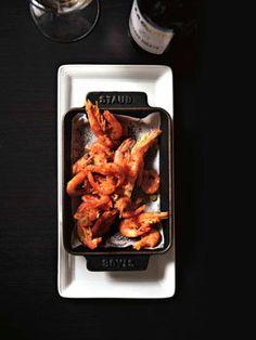Crisp school prawns sautéed with chilli and garlic