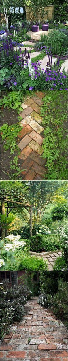 Gorgeous gardenscapes and garden pathways - My Secret Garden Lawn And Garden, Garden Paths, Water Garden, Garden Art, Back Gardens, Outdoor Gardens, Garden Cottage, Farmhouse Garden, Shade Garden