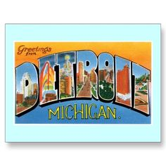 87 best greetings from michigan images on pinterest detroit greetings from detroit michigan postcard m4hsunfo