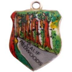 Vintage CALIFORNIA REDWOODS Sterling Silver Souvenir Charm