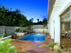 Closely attached pool & outdoor space