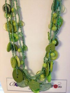 Green Button Necklace via Etsy