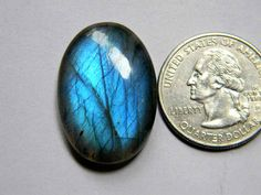29x19 mm Full Blue Labradorite Cabochon Oval Shape with