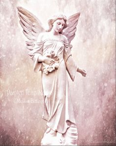 Ethereal Dreamy Inspirational Angel with by PaintedTulipStudio
