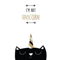 Hello mes petits chats ! Voici mon gros chat qui veut pas qu'on le prenne pour une licorne Les deux dernières illustrations seront bientôt envoyées à l'impression vous aimez cette nouvelle collection ?? #unicorn #licorne #cat #chaton #meow #paillette #or #gold #glitter #cute #affiche #illustration #love #blackandwhite #lamecaniquedubonheur by lamecaniquedubonheur