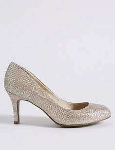 Wide Fit Stiletto Almond Toe Court Shoes