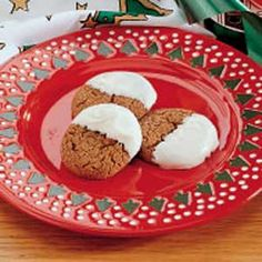 Dipped Gingersnaps Recipe..My go to cookie recipe any time of year! Freeze well, if you can keep them around long enough!
