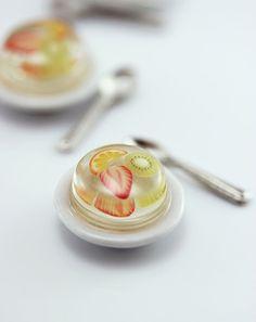 Fruit Jelly  1:12 scale Dollhouse Miniature Dessert by shayaaron on Etsy, $ 12,51