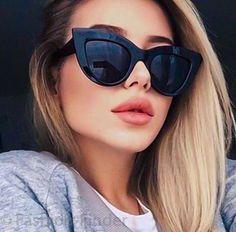 Round Lens Sunglasses, Flat Top Sunglasses, Cat Eye Sunglasses, Sunglasses Women, Vintage Sunglasses, Black Women Fashion, Womens Fashion Online, Latest Fashion For Women, Glasses Frames Trendy