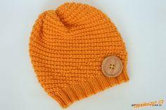 Knitted hat free pattern in Czech. Merino Wool, Knitted Hats, Free Pattern, Knit Crochet, Diy And Crafts, Beanie, Knitting, Children, Fashion