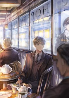 I notice him looking out the window and smile. I walk over and sit down across from him.<<<<<honey this is hetalia Spamano, Usuk, Latin Hetalia, Hetalia England, Hetaoni, Hetalia Characters, Hetalia Axis Powers, A Silent Voice, England And Scotland