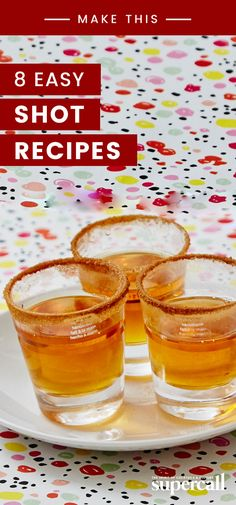8 Easy Shot Recipes to Get the Party Going Fast - Trend Cocktail Garnishes 2019 Cocktail Garnish, Cocktail Recipes, Easy Shot Recipes, Party Recipes, Easy Shots, Food Decoration, Decorations, Alcohol Drink Recipes, Food For A Crowd