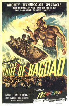 The Thief of Bagdad El Ladrón de Bagdad mi primera vez en el cine El Valle 025 costaba un medio la entrada