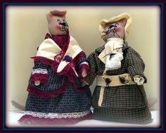"""Linda Walsh Originals Dolls and Crafts Blog: The Dolls Product Lines Series - """"I Love Mrs. Buzz, Michelle! and Come Here, William Augustus!"""" Victorian Animal Cat Art Dolls Products"""