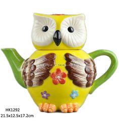 Ceramic Owl Teapot