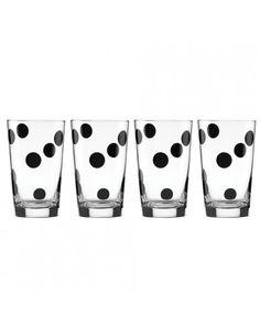 KATE SPADE NEW YORK Set of 4 Deco Dot Glasses