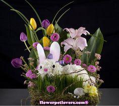 flower bunny centerpiece