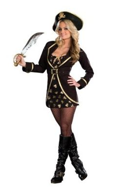 When I thought of a pirate costume this is what I would have liked...
