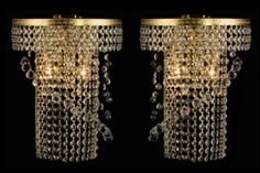 Crystal Wall Sconces - Luxury Decor, Edmonton, CA Crystal Wall, Luxury Home Decor, Home Decor Accessories, Wall Sconces, Interior Decorating, Chandelier, Canada, Ceiling Lights, Crystals