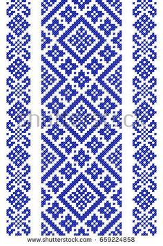 embroidered good like handmade cross-stitch ethnic Ukraine pattern Cross Stitch Geometric, Cross Stitch Borders, Simple Cross Stitch, Modern Cross Stitch Patterns, Swedish Embroidery, Embroidery Applique, Cross Stitch Embroidery, Embroidery Patterns, Machine Embroidery