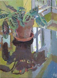 Carole Rabe | OIL | Prayer Plant