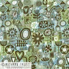 ©Richard Faust 'Heart Stuff Pattern' www.richardfaust.com