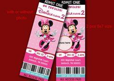 Mickey Mouse Invitation Minnie Birthday Party Ticket Invites