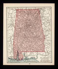 Map Of Alabama USA Maps Pinterest Alabama Printable Maps - Map of alabama with cities
