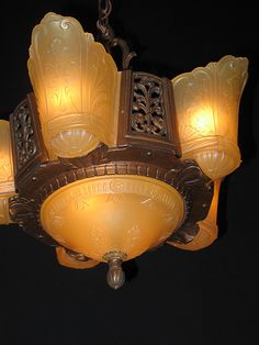 Vintage Art Deco Slip Shade lighting - by Cris Figueired♥