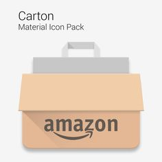 Amazon shopping bag Android Material Design Icon by Francesco Pennella
