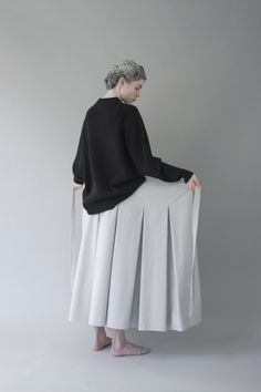 pleated wrap skirt...egg.