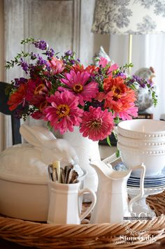 StoneGable: 6 TIPS FOR CREATING A KITCHEN TABLE VIGNETTE