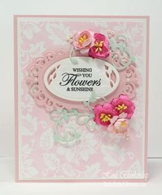 Tutorial Tuesday - Creative Techniques for Background stamps featuring our Secret Garden Background Stamp. | JustRite Papercraft Inspiration Blog