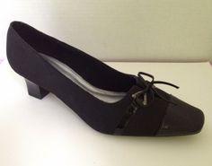Life Stride Shoes Womens Size 12 W Black Heels Jo 12W Fabric Pumps Wide #LifeStride #PumpsClassics #WeartoWork