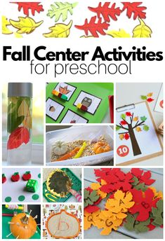 Preschool Fall Center Activities - No Time For Flash Cards