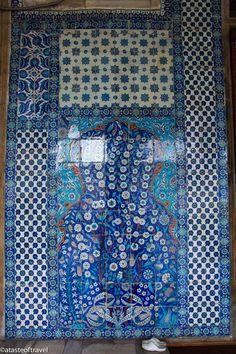 Iznik tiles at the Rustem Pasha Mosque in Istanbul
