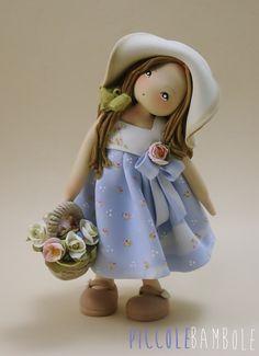 PiccoleBambole : Spring - cold porcelain - Primavera- Porcellana fredda