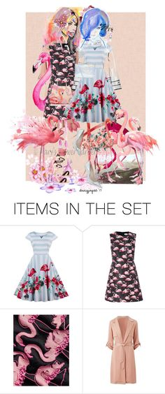"""""""flamingo fashion"""" by daizyjayne ❤ liked on Polyvore featuring art and contestentry"""