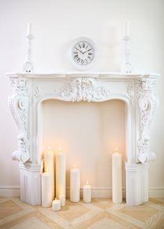 decorar la chimenea con velas