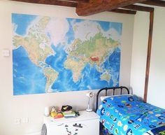 Standard World Map wallpaper by Wallpapered