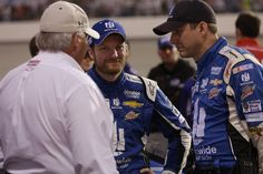 DaleJr.com | Official Website of NASCAR driver Dale Earnhardt Jr. Dale Jr., Greg Ives, and Rick Hendrick