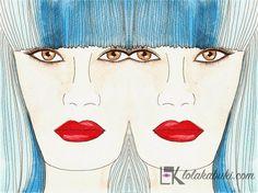 DOBLE TURQUESA #love #art #watercolor #paintings #illustration