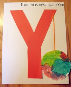 Y is for YoYo. letter y craft 2 the measured mom 7 Letter Y Crafts and Process Art for Preschoolers Preschool Letter Crafts, Alphabet Letter Crafts, Abc Crafts, Preschool Projects, Daycare Crafts, Alphabet Book, Classroom Crafts, Alphabet Activities, Preschool Crafts